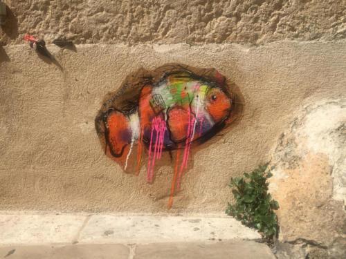 Poisson Clown - Street Art (Saint-Tropez, 2019)