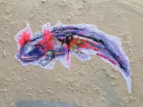 Axolotl - Street Art (Paris, 2019)