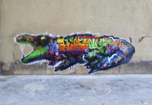 Crocodile - Street Art (Paris)