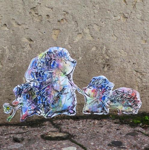 Hérissons - Street Art (Paris, 2019)