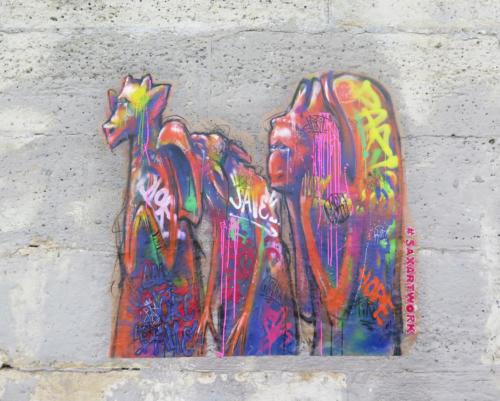 Gargouilles - Street Art (Paris, 2019)