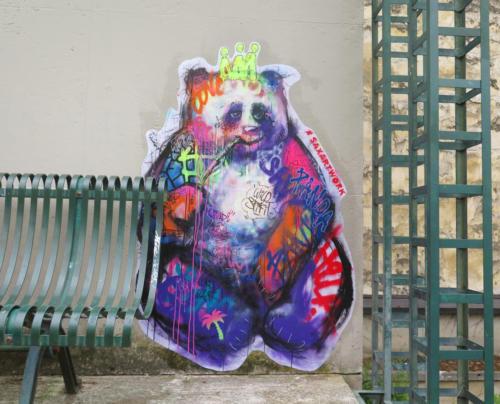 Urban Panda - Street Art (Paris, 2019)