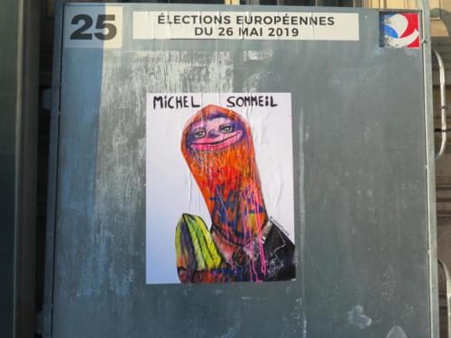 Paresseux / Européennes 2019 - Street Art (Paris, 2019)