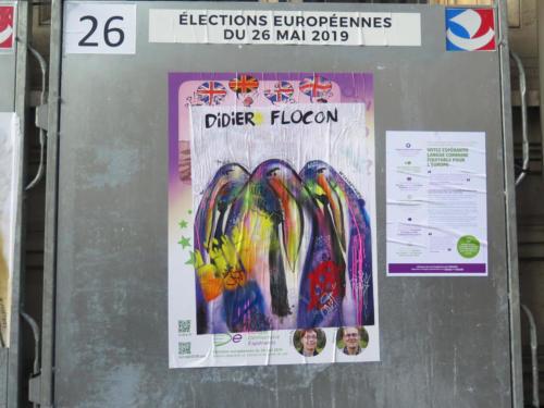 Manchots / Européennes 2019 - Street Art (Paris, 2019)