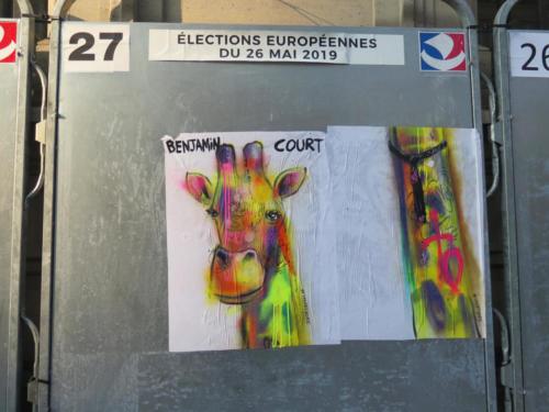 Girafe / Européennes 2019 - Street Art (Paris, 2019)