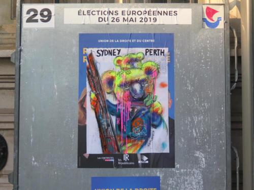 Koala / Européennes 2019 - Street Art (Paris, 2019)
