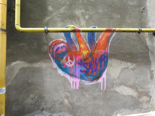 Paresseux - Street Art (Paris, 2019)