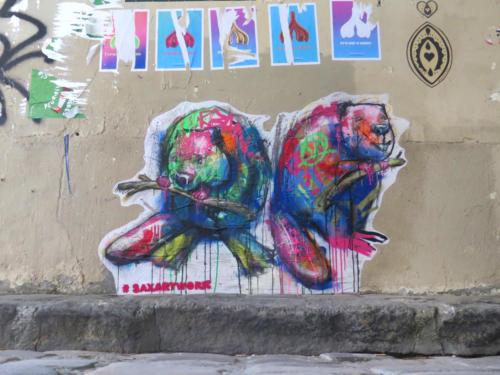 Castors - Street Art (Paris, 2019)