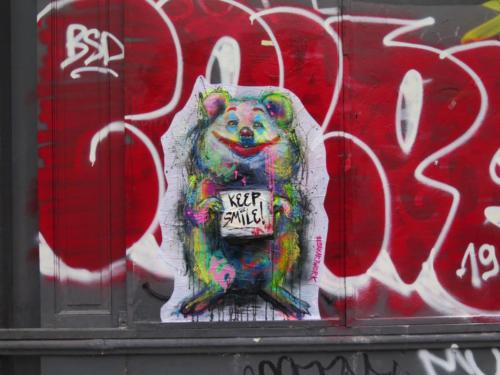 Quokka Joker - Street Art (Paris, 2019)