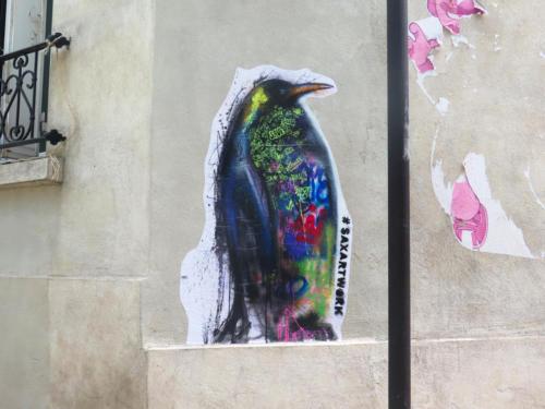 Manchot - Street Art (Paris, 2019)