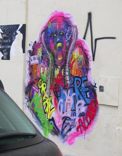Le cri de la jungle / Orang Outan - Street Art (Paris)